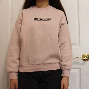light pink authentic h&m sweater